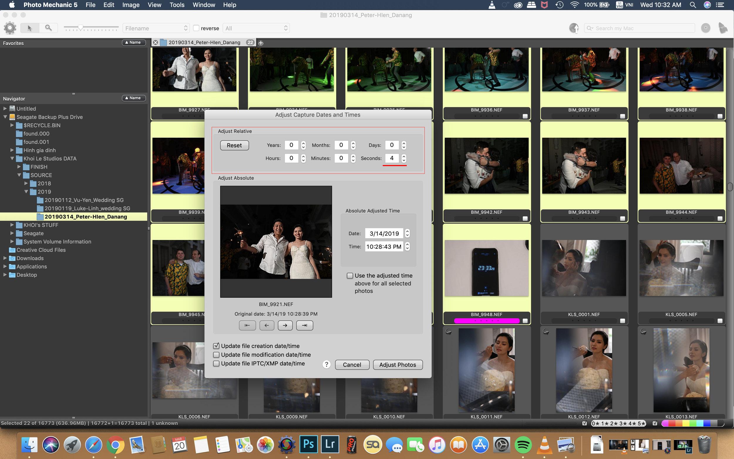 Như ở đây mình chỉnh cho toàn bộ những bức ảnh đã chụp từ camera này nhanh lên thêm 4s.
