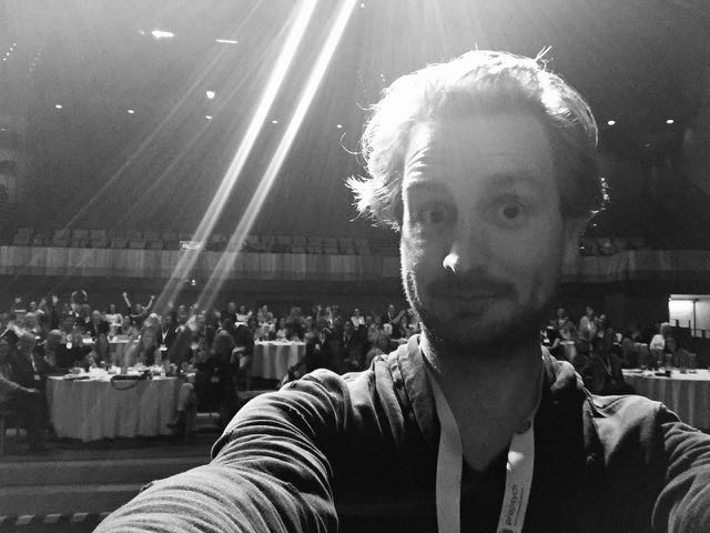 I was coerced by event organisers into interrupting proceedings to takethis selfie. For real. Sounds like I'm making that up but it's true.