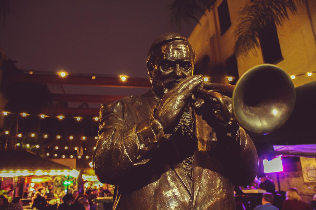 Musical Legends Park, right off of Bourbon Street.