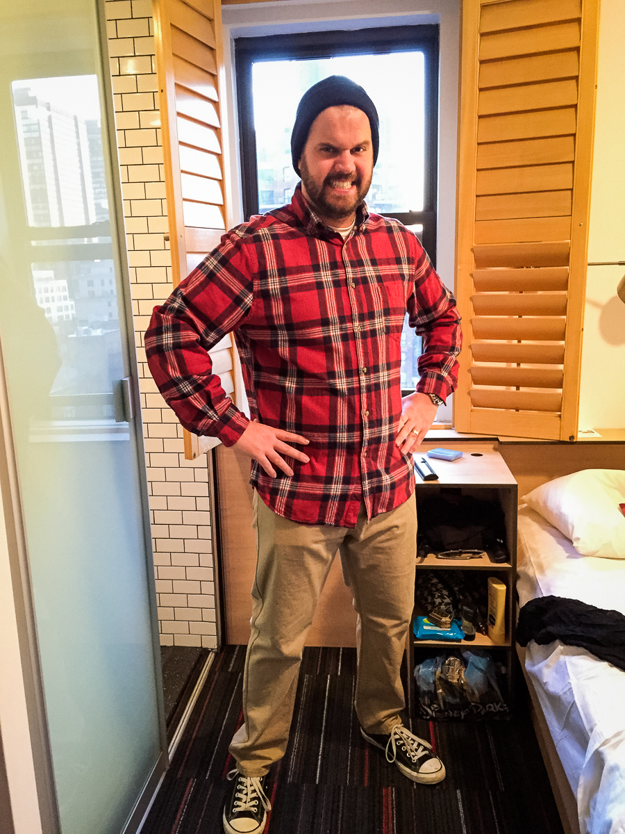 For some reason I had a lumberjack motif going on.