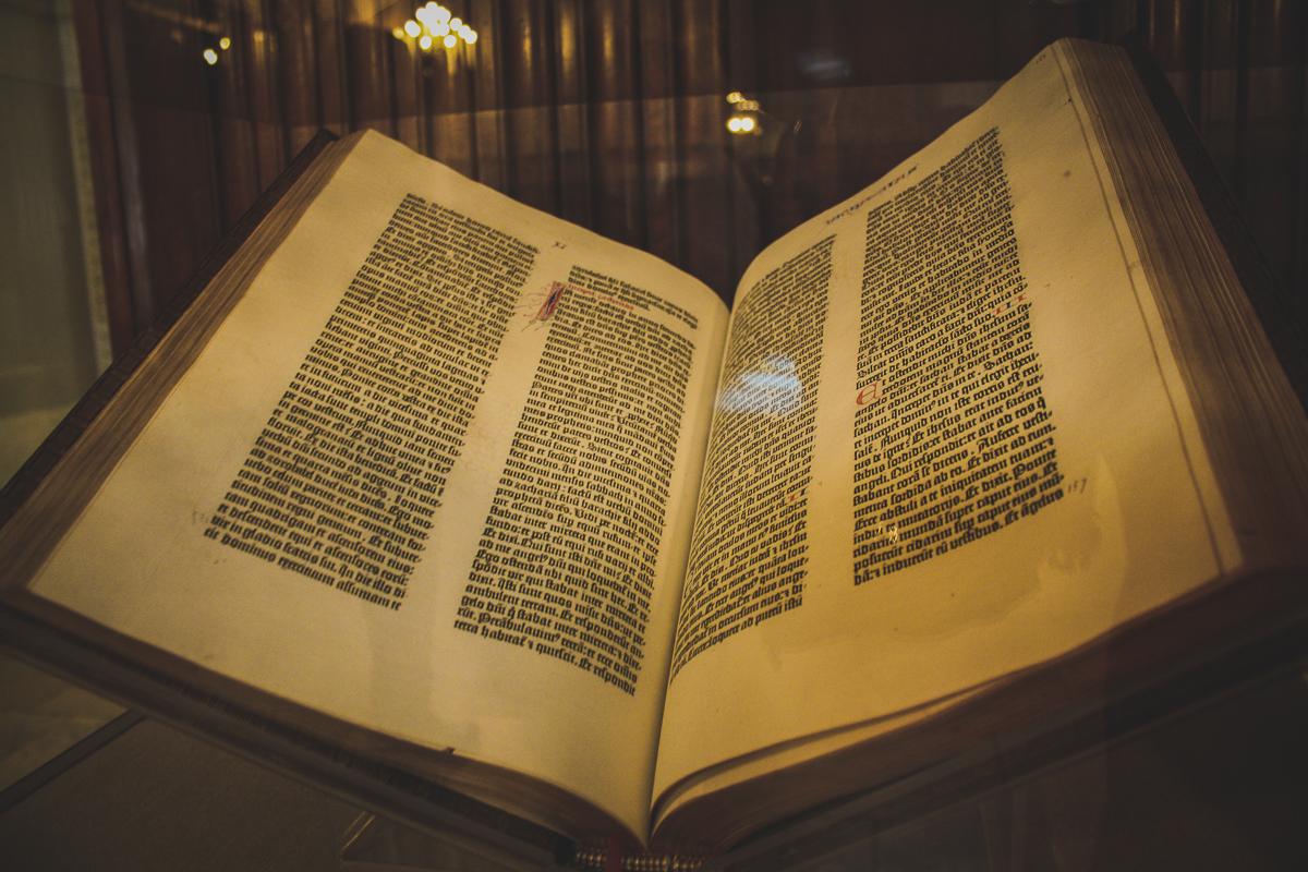 A Gutenberg bible!