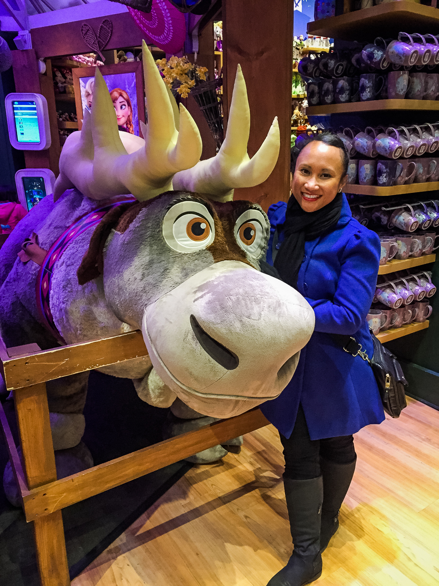 We went into the Times Square Disney Store and found a massive Sven!