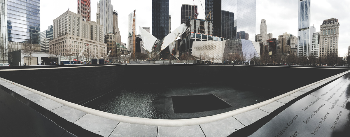 The 9/11 Memorial pool for the North Tower.