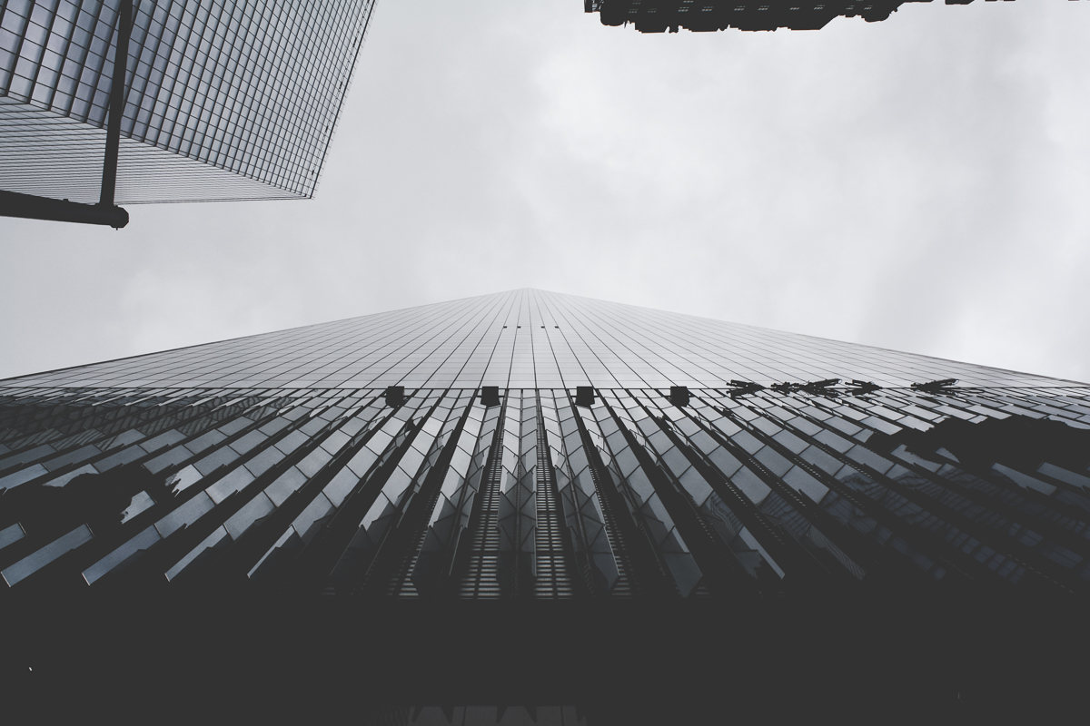 I love how the building's lines make it seem as though it fades off into infinity.