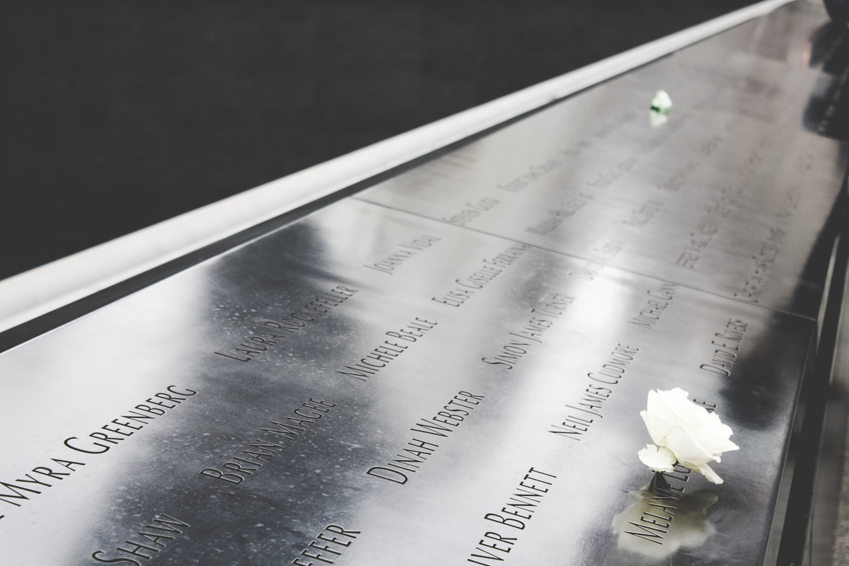 The names of those who passed, occasionally punctuated with the names of the police and fire units dispatched to the buildings, made the public memorial very personal.