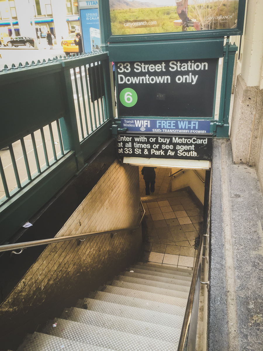 """I disticntly remember saying, """"I haven't gotten my 'subway entrance' photo yet!"""" before snapping this one!"""