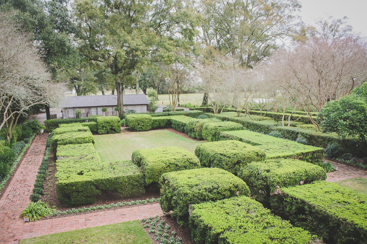 The gardens from above.