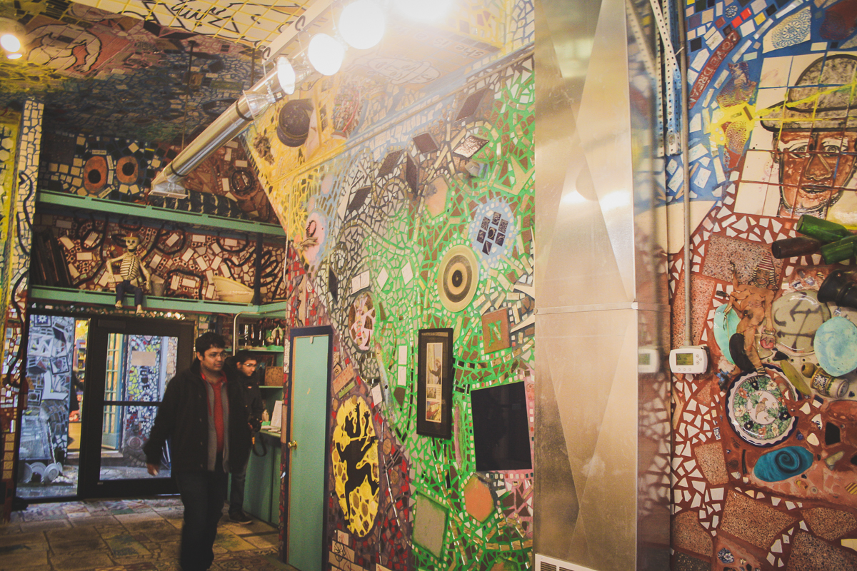 Inside Philadelphia's Magic Gardens.