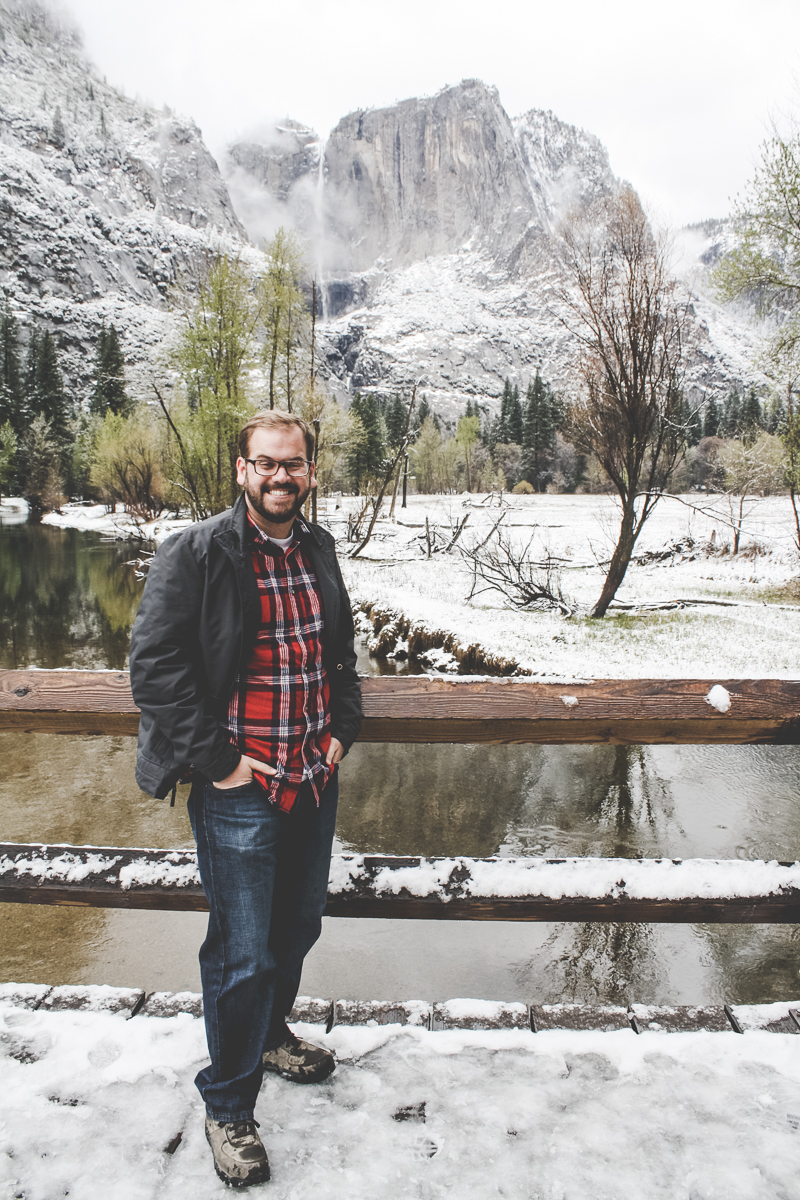 Me looking charming as hell in front of Yosemite Falls. #humblebrag