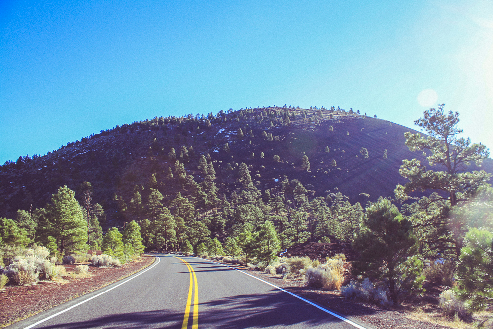 The Sunset Crater, from the lava flow trail side.