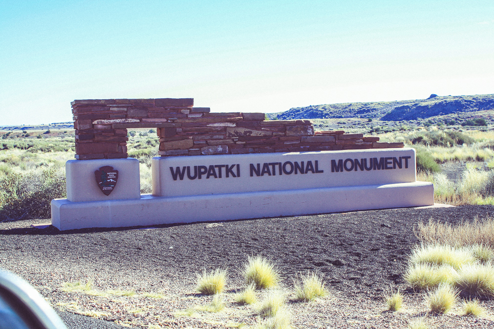 Now transitioning from the Sunset Crater National Monument to the Wupatki National Monument.