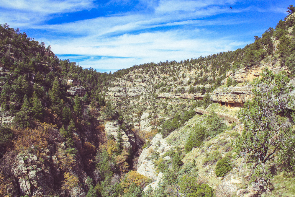 As you descend into the canyon, many other rooms become apparent.