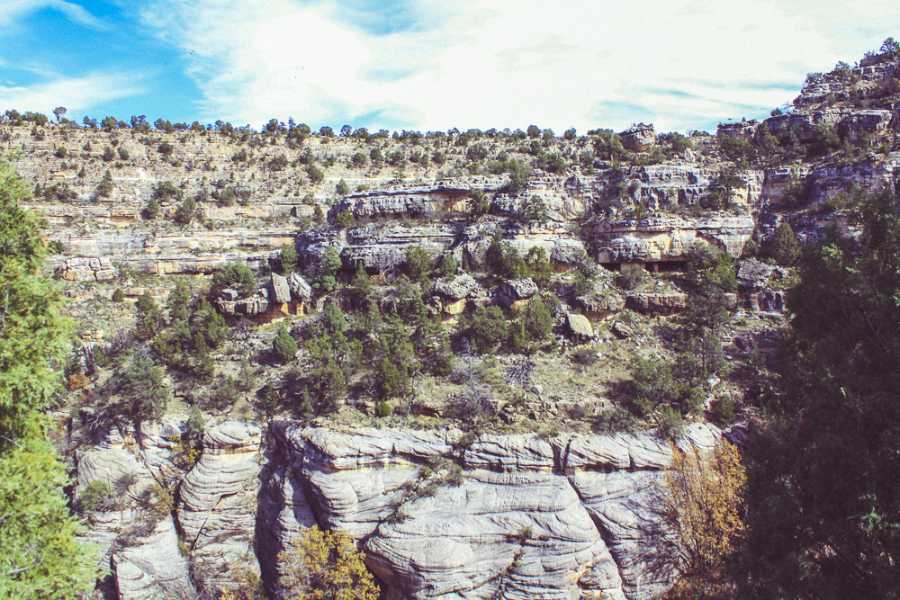Beatufiul patters carved into the cliff-faces of the canyon.