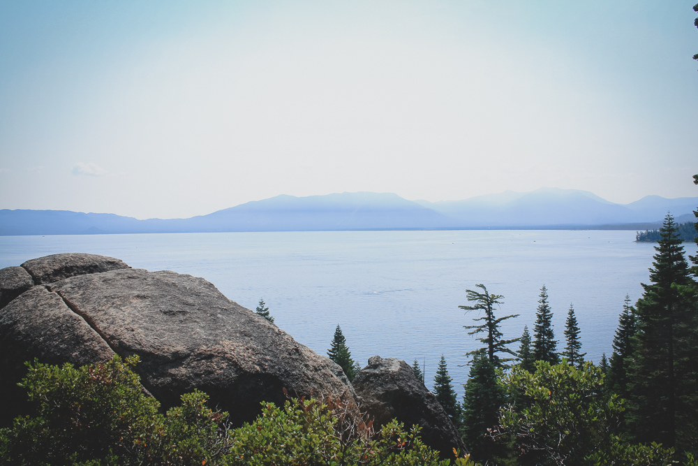 Though slightly hazy, it was beautfiul day at Lake Tahoe.