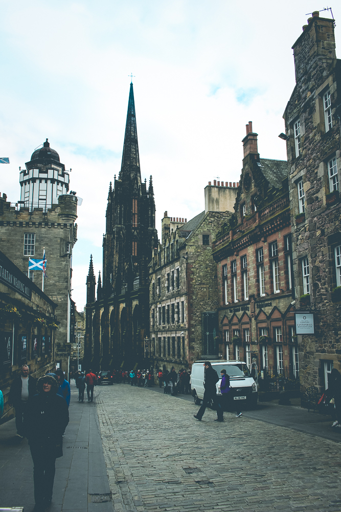 A look down the Royal Mile.