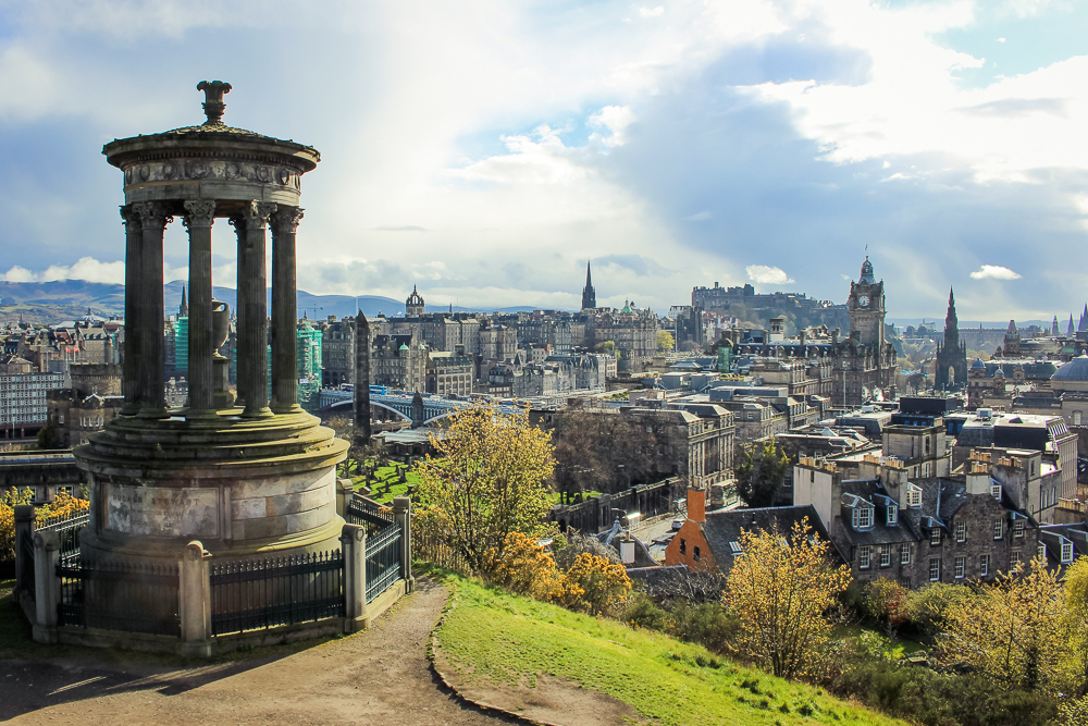 The view from Calton Hill across Edinburgh.