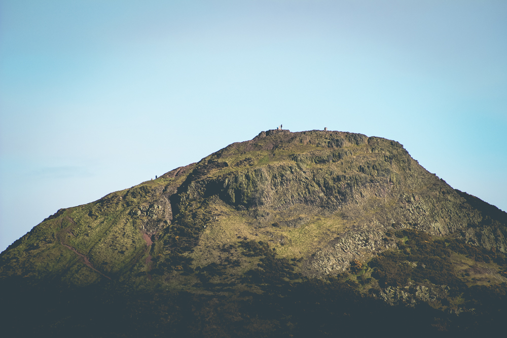 Arthur's Seat is technically the just highest hill in Holyrood Park.