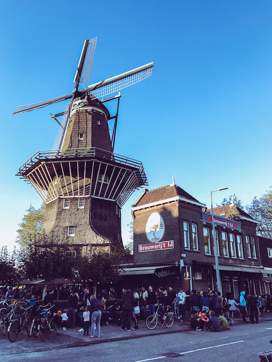 The brewery under a windmill…so neat!