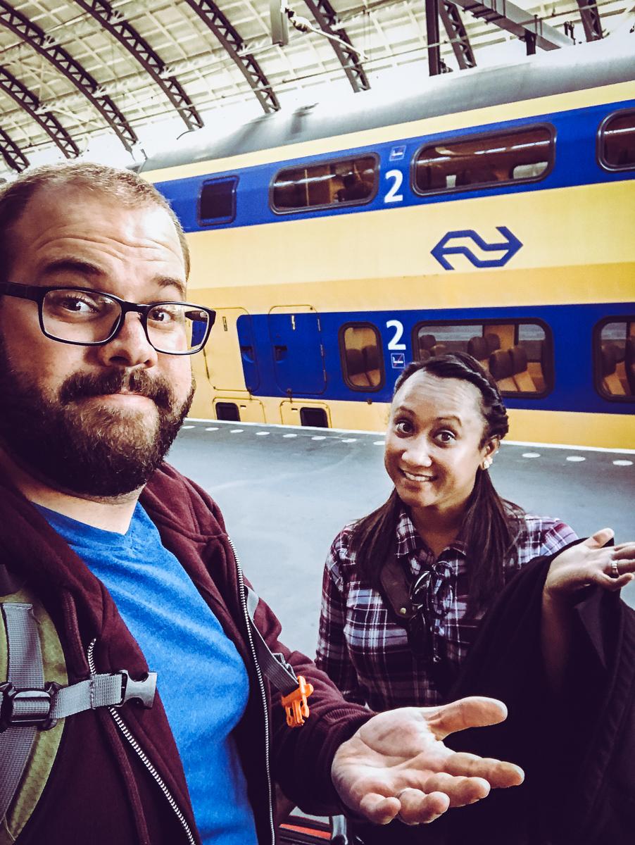 FINALLY  in Amsterdam!