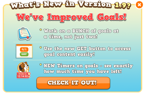 Image shown to players to describe new goal features.