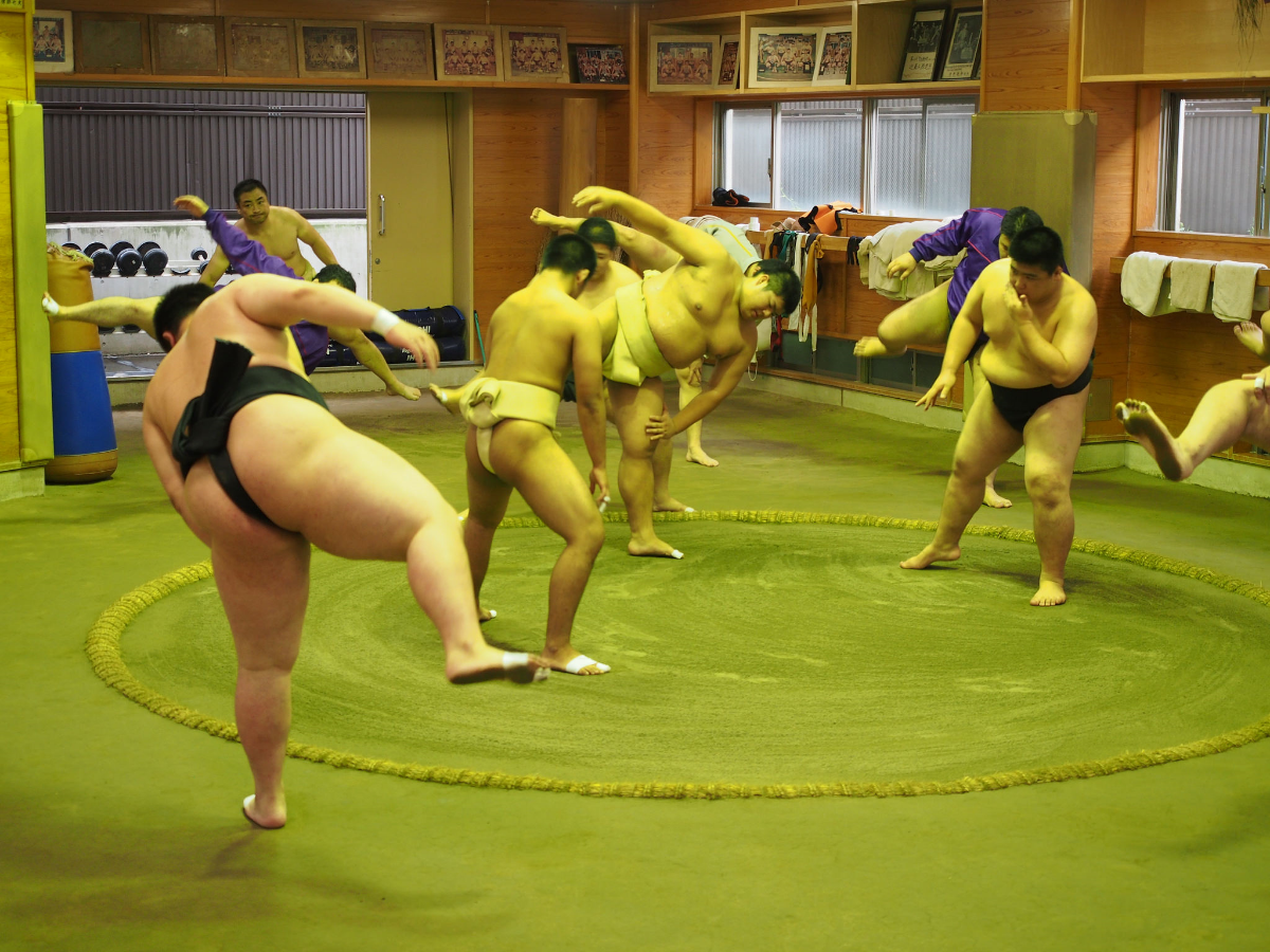 Sumo training session. ©TOKI