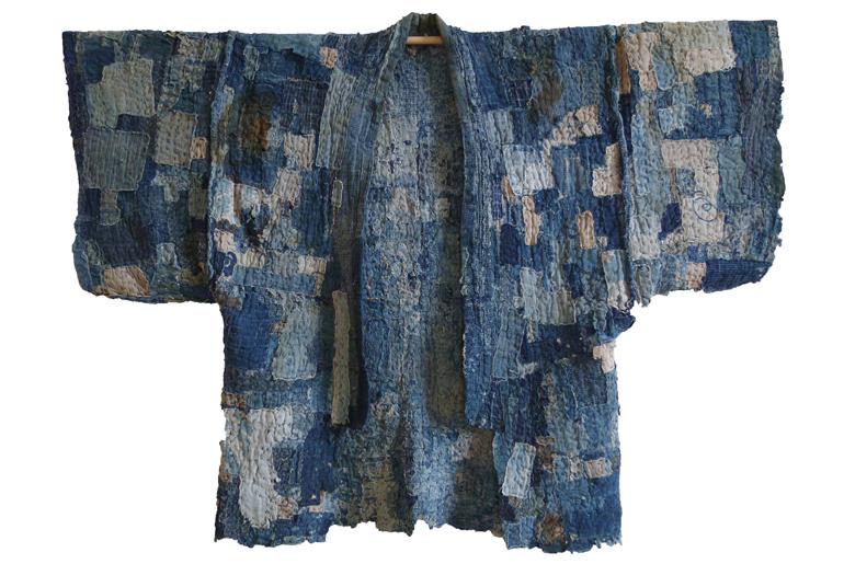 A traditional boro kimono.  © Gerrie Congdon.