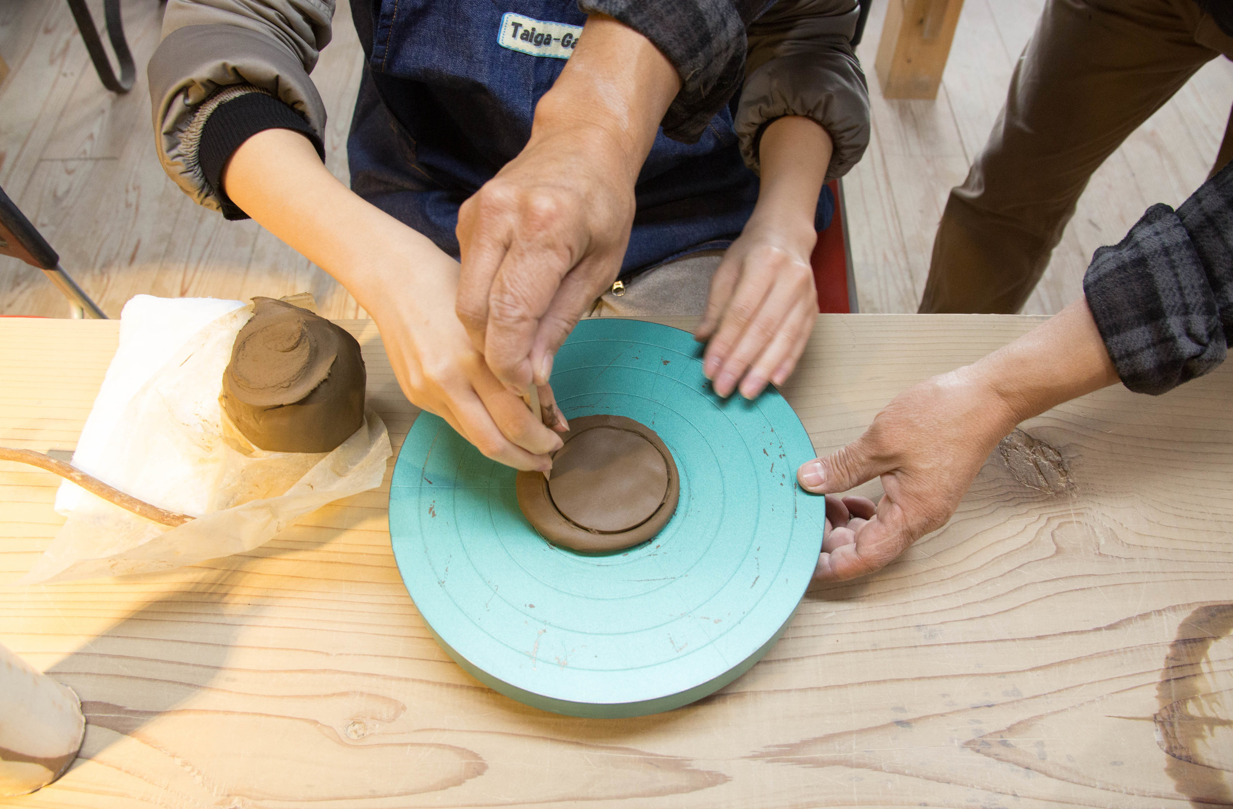 Take to the wheel and try your hand at making your own Tamba-yaki pottery.