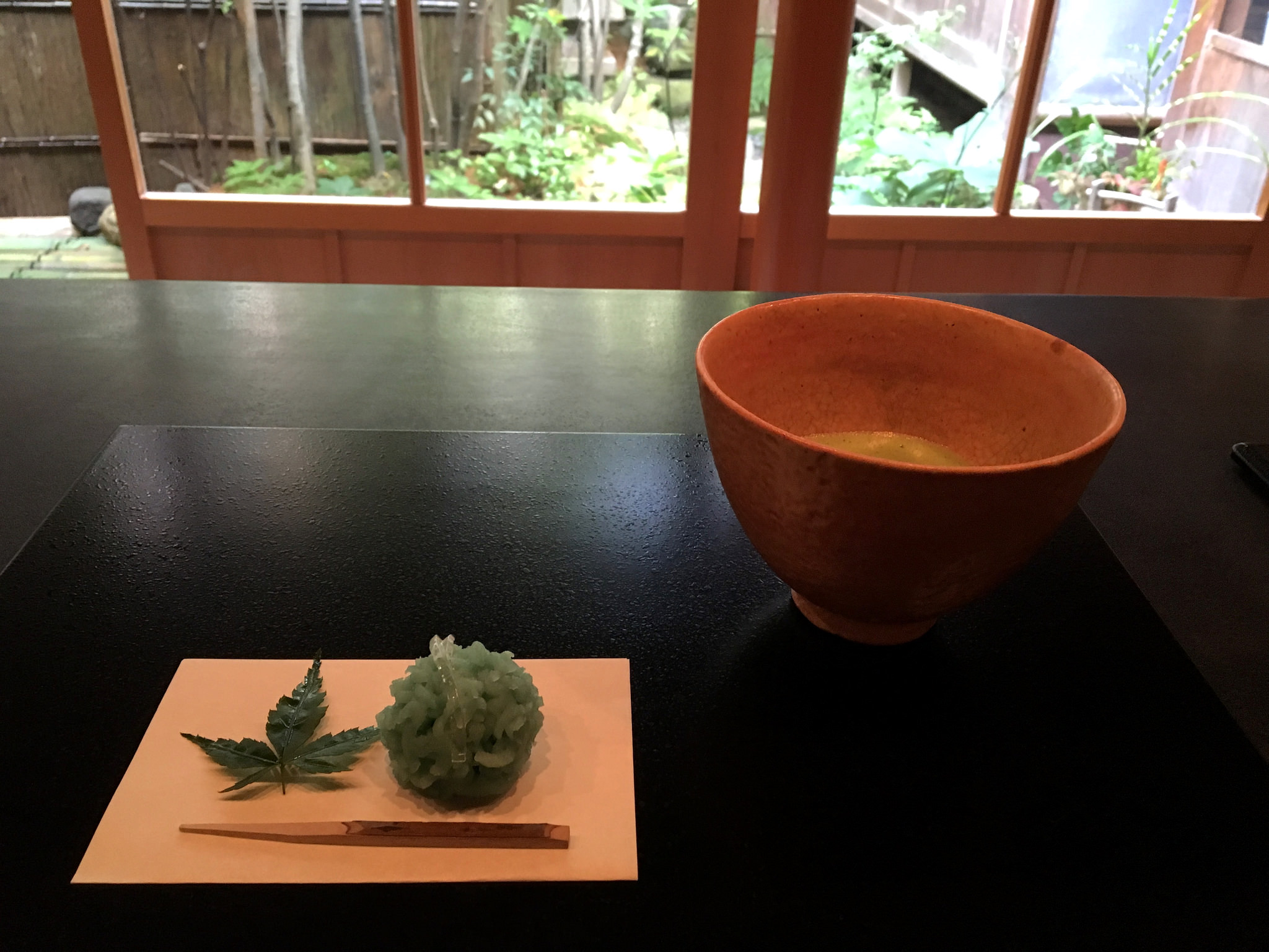 Japanese tea and sweets,  wagashi  (和菓子).  ©TOKI
