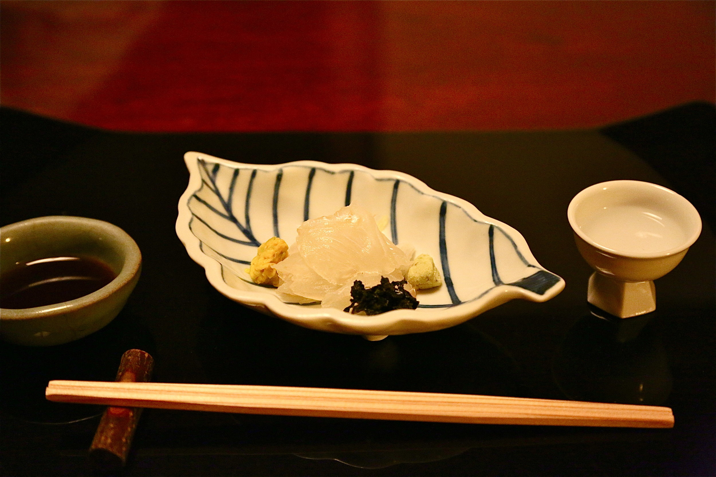 A sashimi dish, part of  kaiseki ryori,  the classiest and usually most expensive dining experience you can have in Japan. ©TOKI