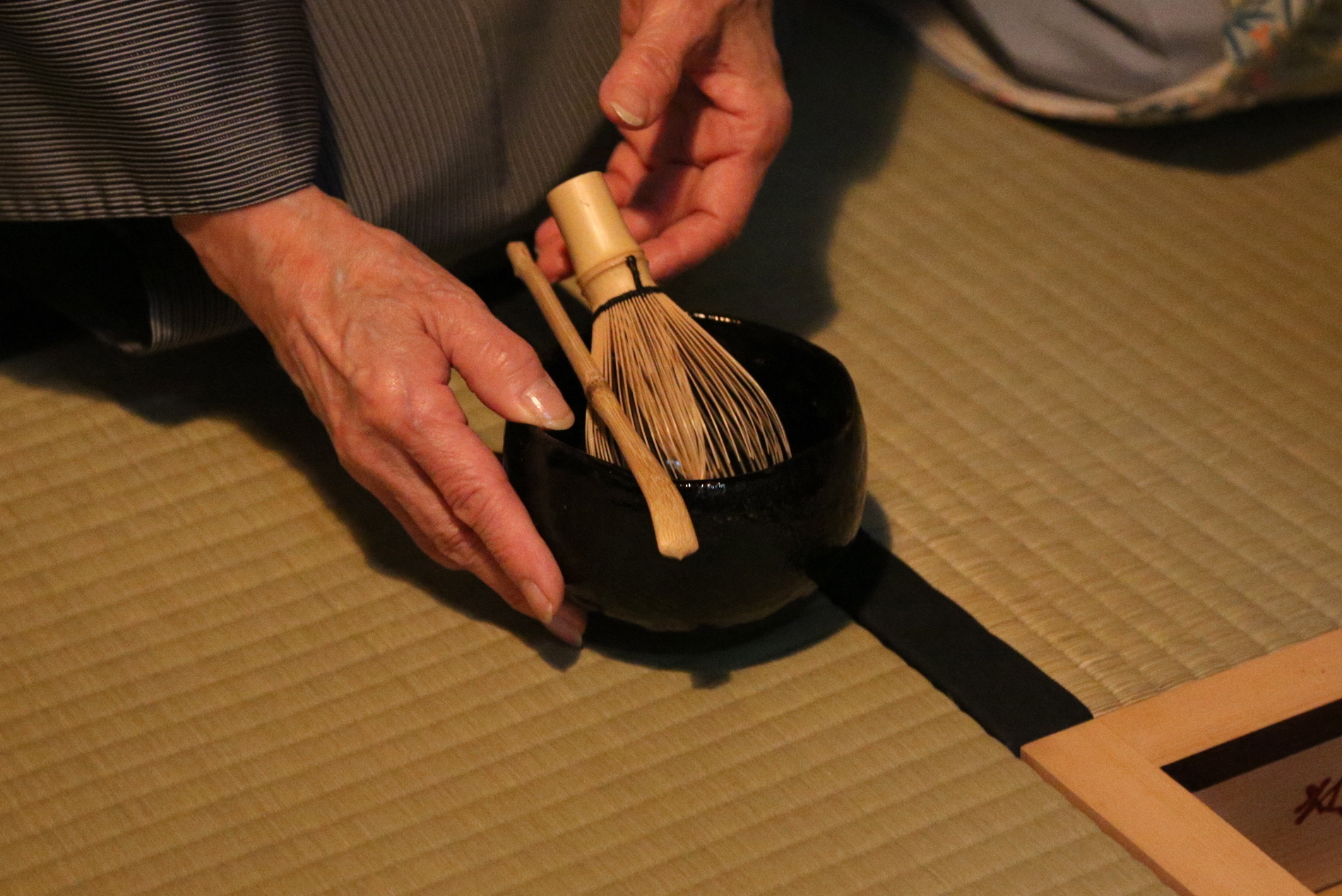Matcha being prepared in a tea ceremony. © TOKI