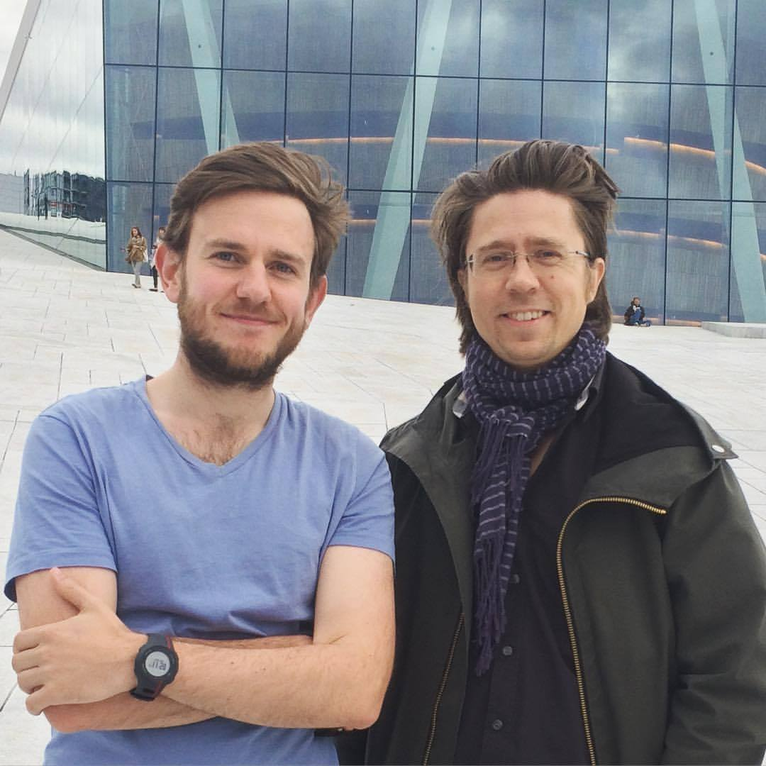 With Håkon in front of the Opera house