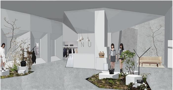 Nubu flagship store, iroda - KONCEPCIÓTERV
