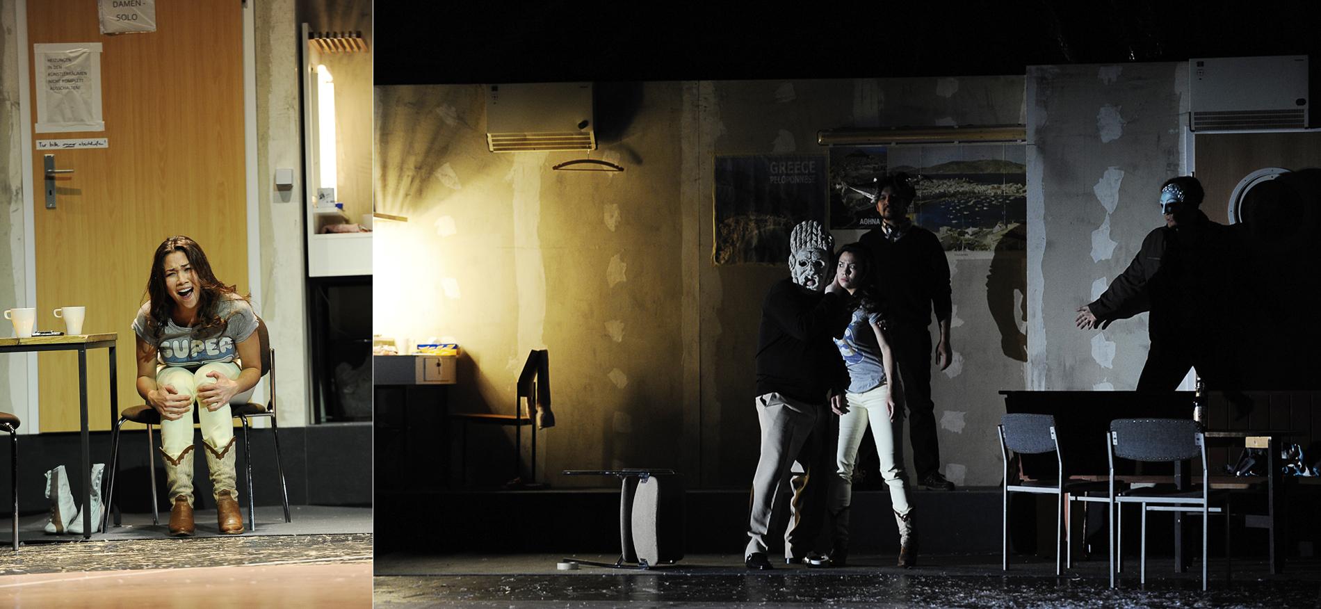 Zerbinetta, Ariadne auf Naxos //Theater und Orchester Heidelberg //Director: Lorenzo Fioroni // Stage: Ralf Käselau //Costumes: Sabine Blickenstorfer //Photo: Klaus Fröhlich
