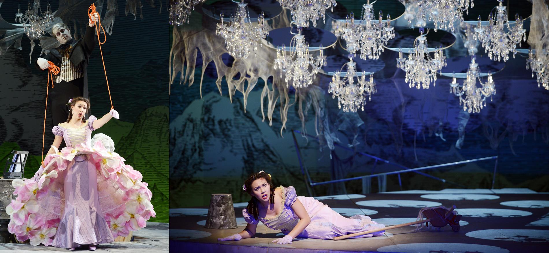 Marie, La fille du Régiment // Badisches Staatstheater Karlsruhe // Director: Aurelia Eggers // Stage/Costumes: Rainer Sellmaier // Photos: Falk von Traubenberg