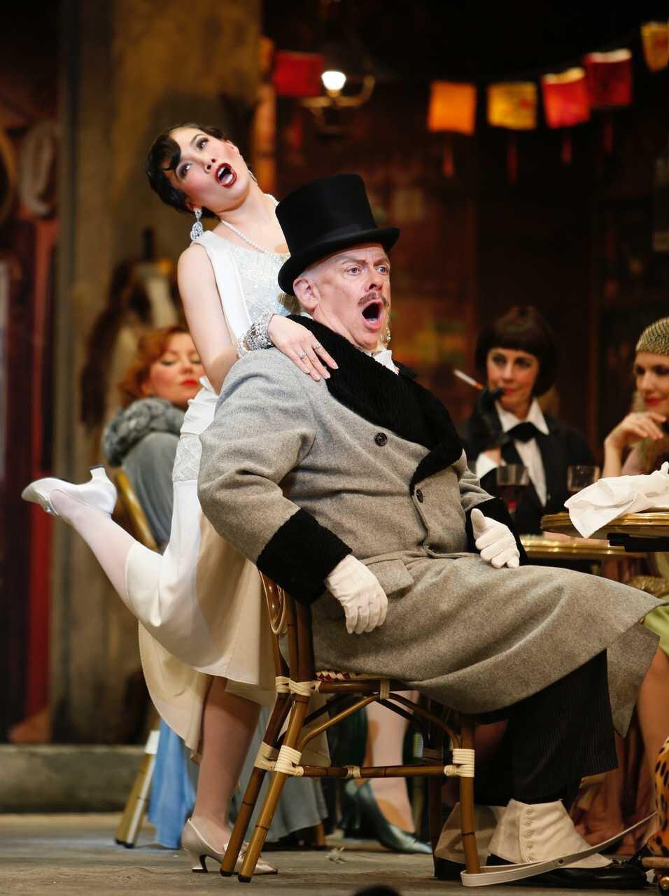 As Musetta in  La Bohème , Vancouver Opera | Alcindoro: J. Patrick Raftery | Photo: Timothy Matheson