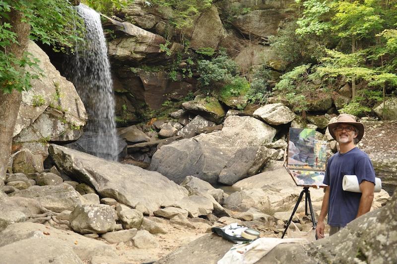 Painting at Eagle Falls, Ky