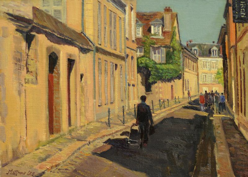 "Matthew Lee- ""Going to Market- Chartres, France""  10 x 16 in."