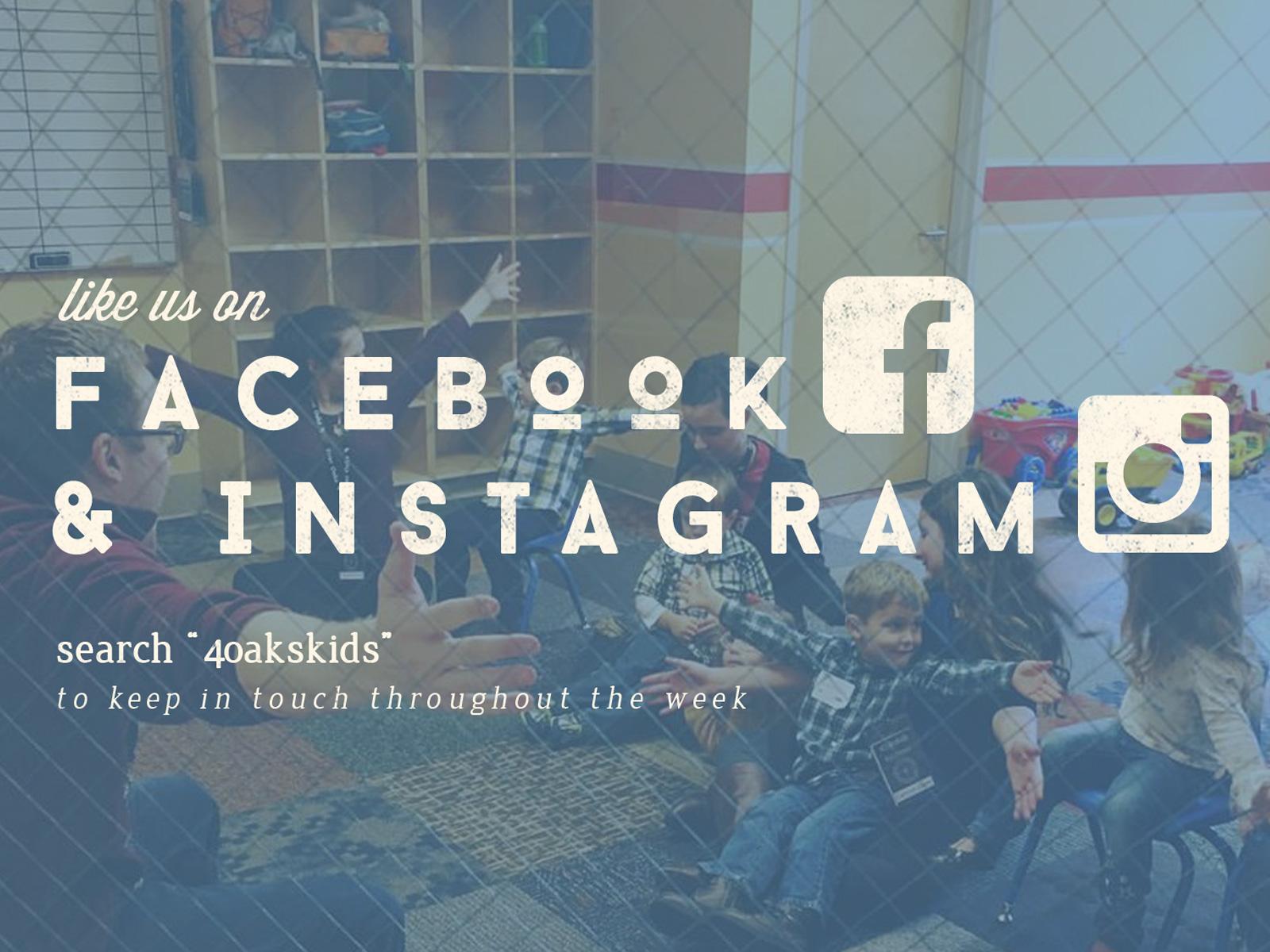 We're on Facebook & Instagram