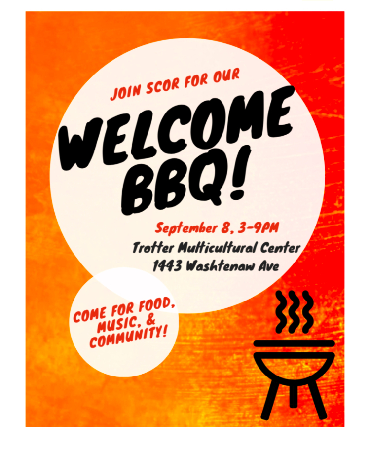 Annual SCOR Welcome Back BBQ - SCOR wants to celebrate your return to campus with our Welcome Back BBQ! Join us for some free food, games, and fun. Check out the flyer for more details!Hope to see you there!BBQ Catered by Cuppys Best Soul FoodMusic and Photo Booth by Dj Zu!