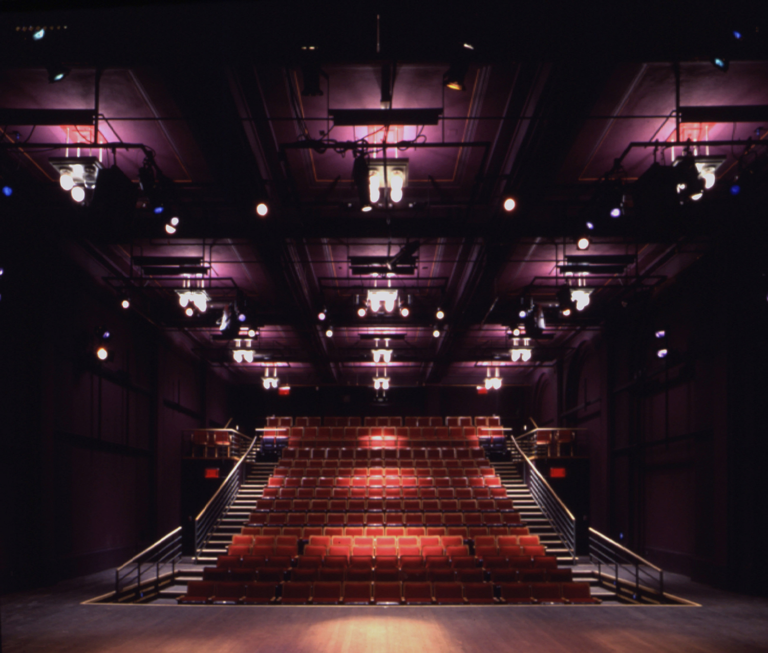 View of theater seating from stage