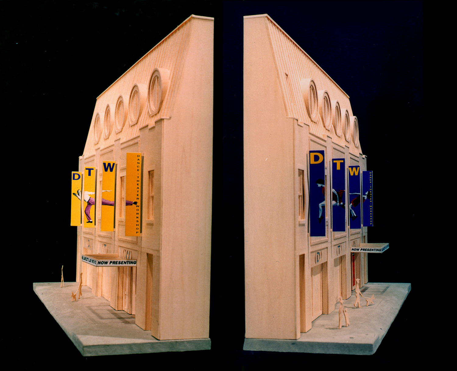 Model of facade from both directions