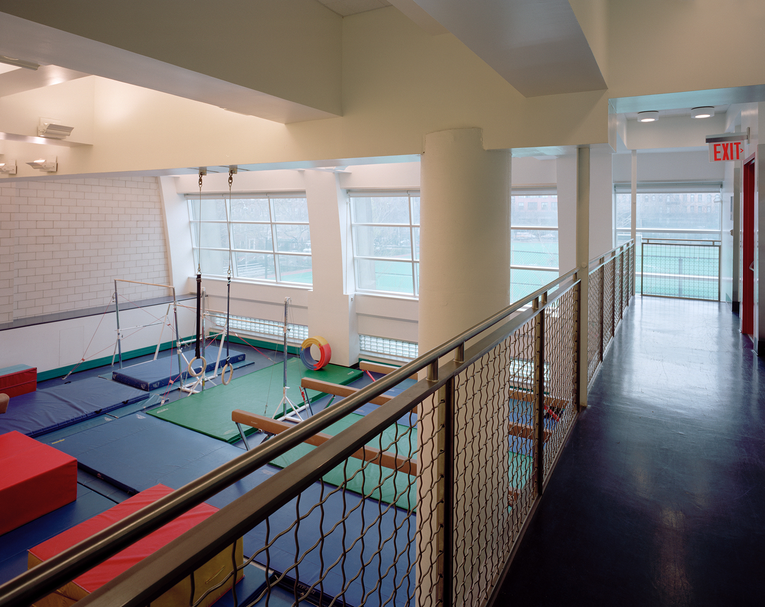 "View of ""mini-gym"" from 3rd floor hallway"