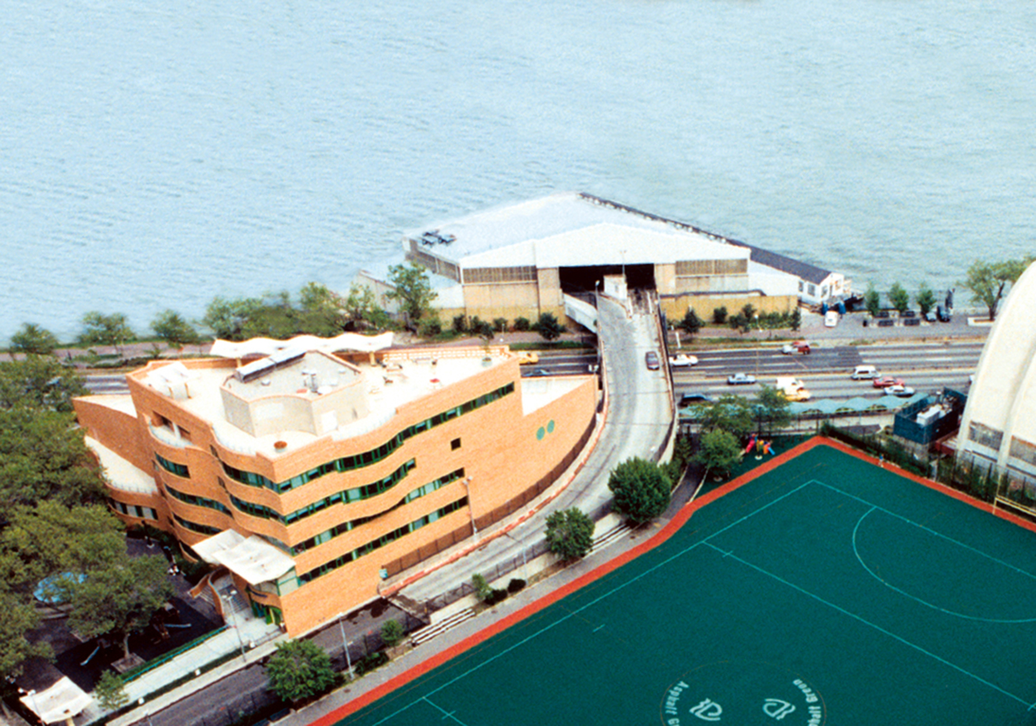 Aerial view of the Aqua Center