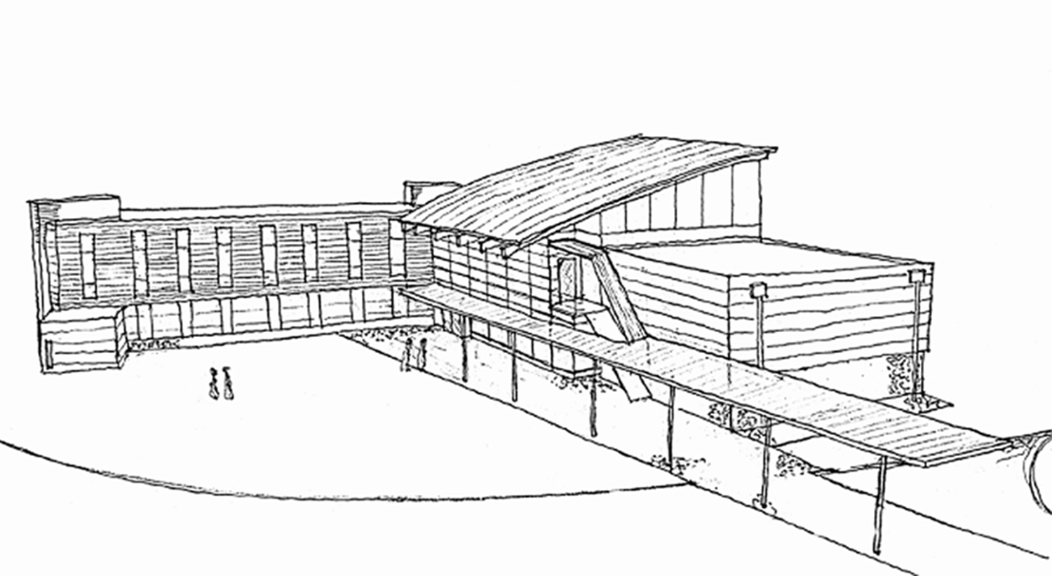 Rendering of proposed community center
