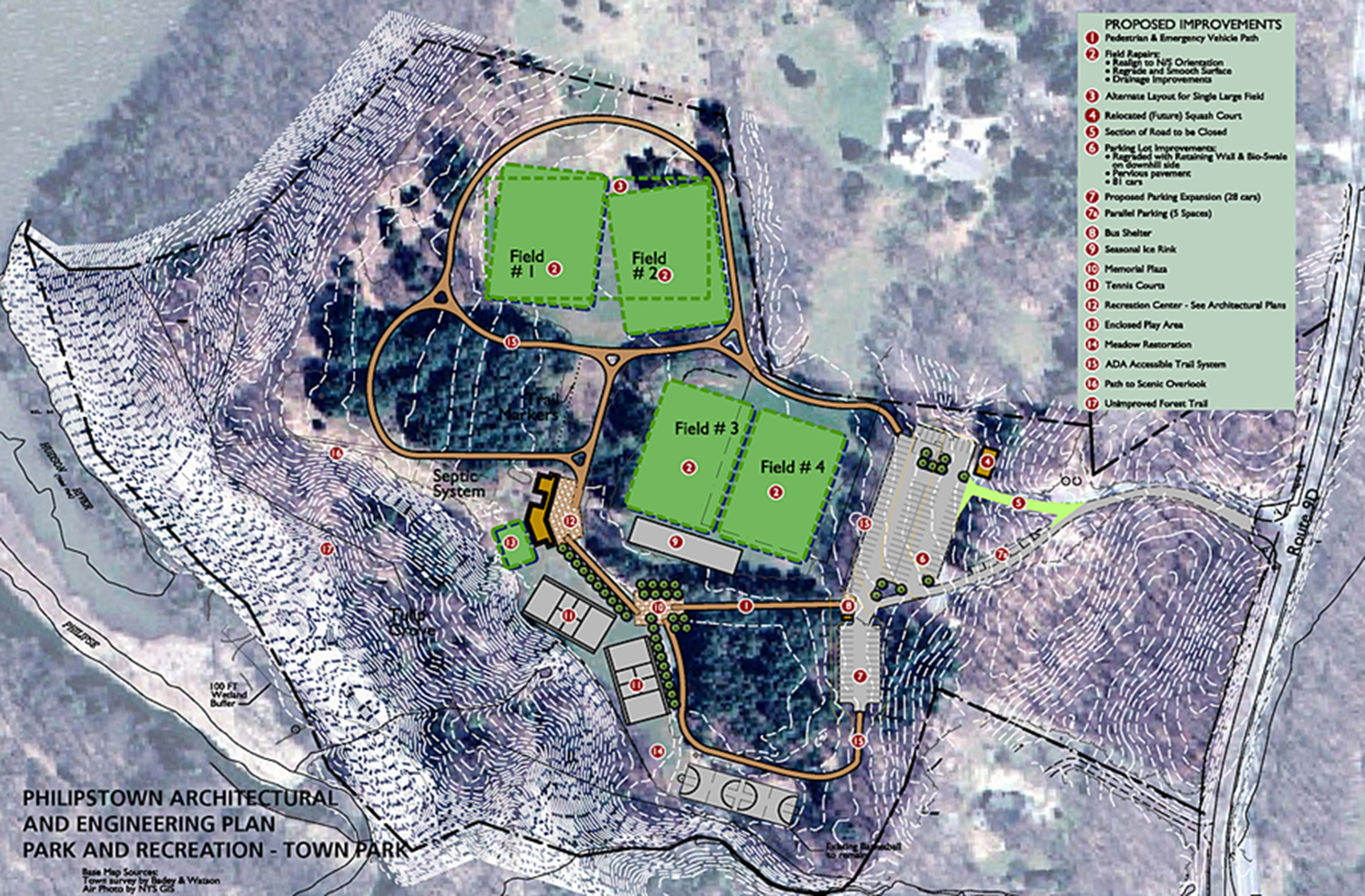 Philipstown Town Park site plan