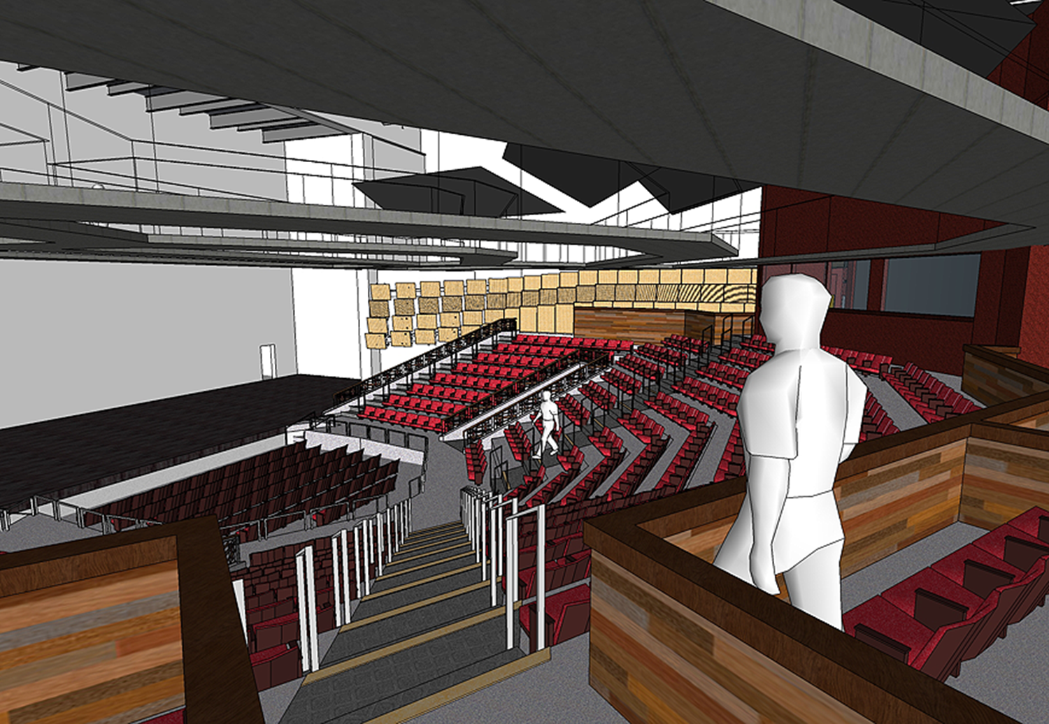 Theater from back of house