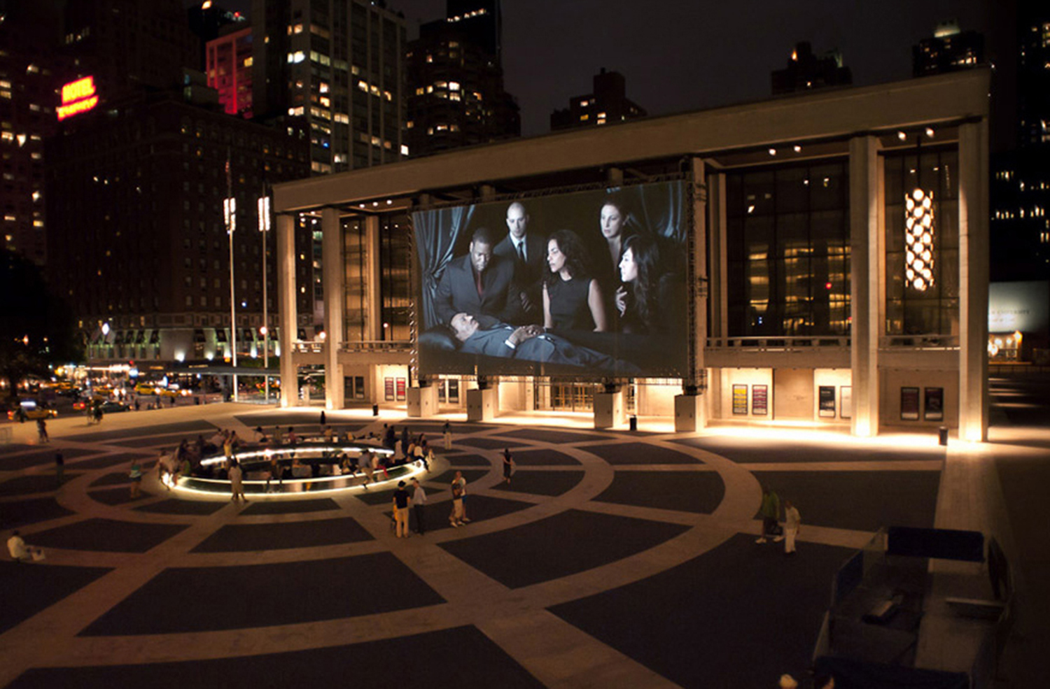 David H. Koch Theater with video screen