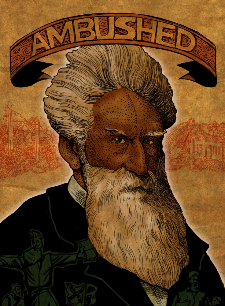 This is the cover I illustrated  that led me to the other jobs: John Brown Day and The Adirondacks Hall of Fame; launching my personal encounter with the Civil Rights movement and meeting some great people like Martha Swan who ends up hiring me to design posters and programs for John Brown Lives!.