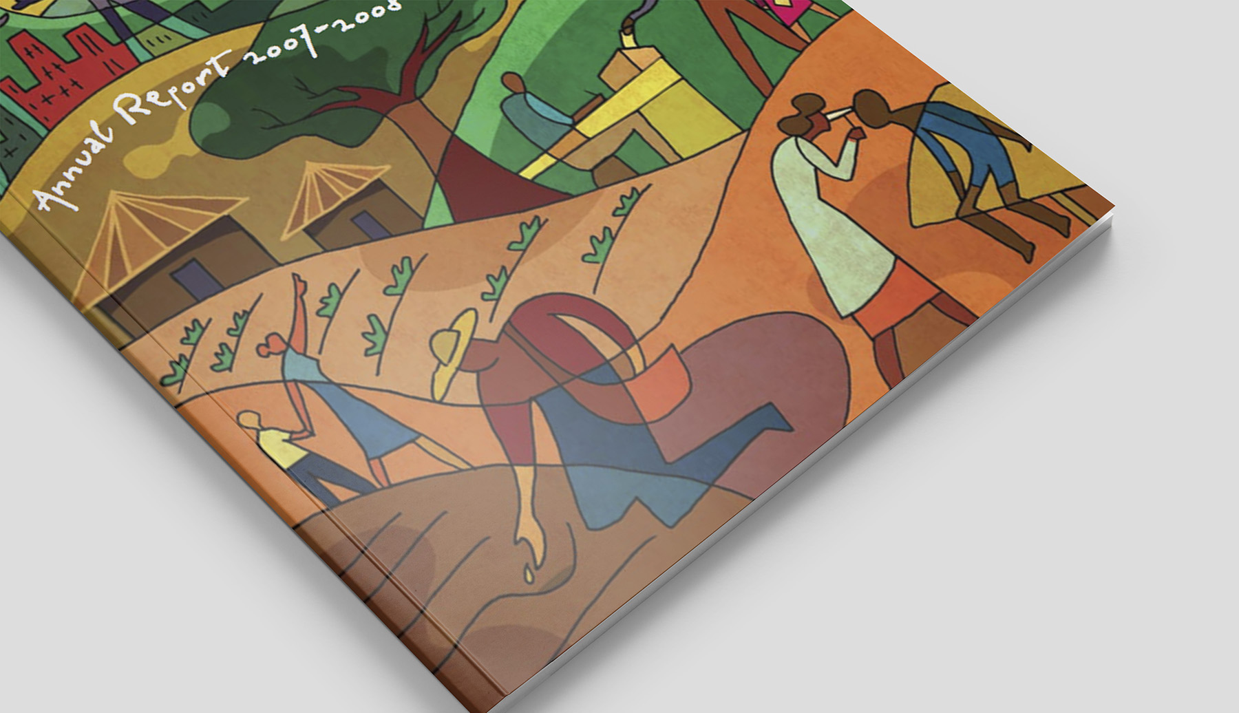 Close-up #1 Final illustration as seen on The Carter Center Annual Report 2007 - 2008 publication.