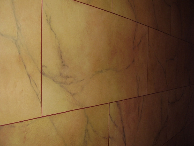 Recreation of an 1830's scheme of marble blocks in a London Town House.